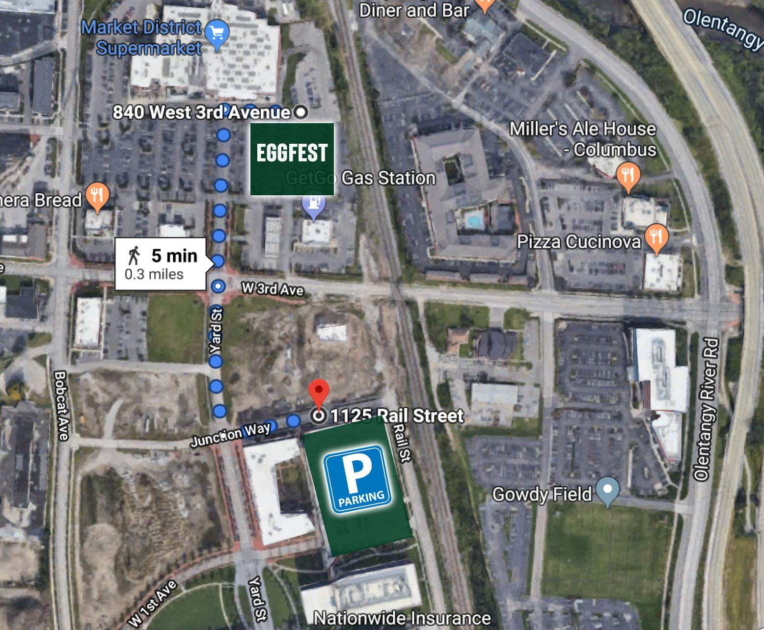ohio eggfest parking map